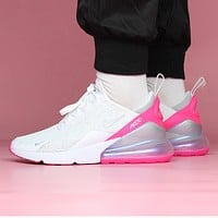 Hipgirls NIKE Air Max 270 Fashion New Hook Women Running Sports Leisure Shoes White