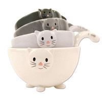 Ceramic Cat Measuring Cups / Baking Bowls