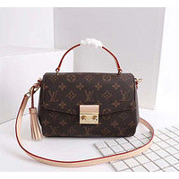 LV Louis Vuitton MONOGRAM CANVAS CROISETTE HANDBAG INCLINED SHOULDER BAG