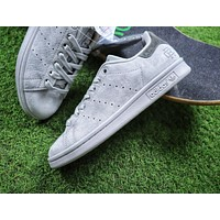 Reigning Champ x Adidas Stan Smith 3M Grey Suede Sport Shoes Sneaker