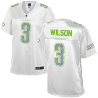 Women's Seattle Seahawks Russell Wilson NFL Pro Line White Out Fashion Jersey