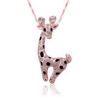 MLOVES Women's Delicate Cute Little Giraffe Pendant Necklace