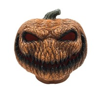Plastic Pumpkin with LED Light for Harvest Home and Garden Halloween and Thanksgiving Decorations