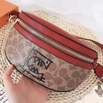 COACH Fashion New Pattern Leather Waist Bust Bag Shoulder Bag Crossbody Bag