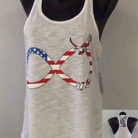 Racer tank w/ laced back- USA Infinity