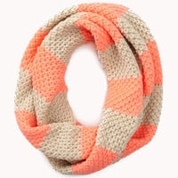 Thick Striped Infinity Scarf