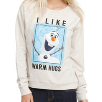Disney Frozen Olaf Warm Hugs Girls Pullover Top