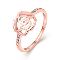 Rose Pace 18k Rose  Gold Plated Ring
