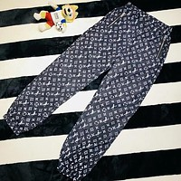 LV Louis Vuitton Trending Women Stylish Monogram Print Sport Pants Trousers Sweatpants I13376-1