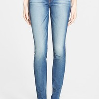 Women's 7 For All Mankind Mid Rise Skinny Jeans (Distressed Authentic Light)