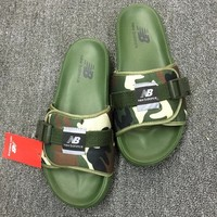 """New Balance"" Men Summer Fashion Casual Camouflage Sandals Beach Home Non-slip Slippers Shoes"