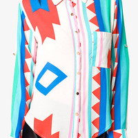 Abstract Geo Print Shirt | FOREVER 21 - 2051286223