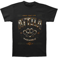 Attila Men's  Punisher T-shirt Black Rockabilia