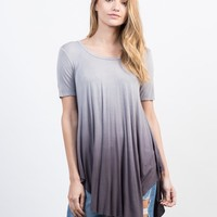 Flowy Ombre Tunic Top
