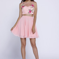 Pink Rose 2 Piece Dress