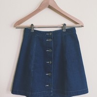 Reilly Button Down Denim Skirt