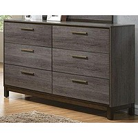 Opulent Glided Wooden Dresser, Antique Gray By Casagear Home