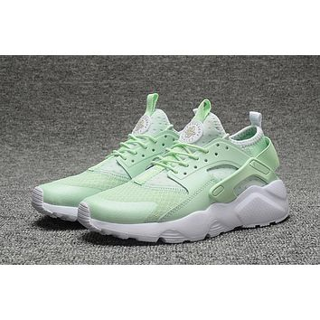 Nike Air Huarache 4 Rainbow Ultra Breathe Women Mint Green Running Sport Casual Shoes Sneakers - 924