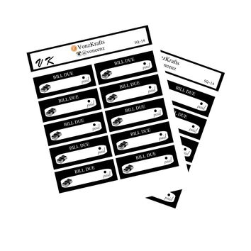 Loan Payment Bill Due Stickers, Bill Due Stickers, Functional Stickers, Erin Condren, Happy Planner.  Planner Stickers, Bill Stickers. SQ-14