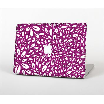 The Purple & White Floral Sprout Skin Set for the Apple MacBook Pro 13""