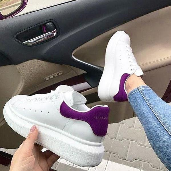 Image of Alexander Mcqueen Classic Popular Woman Casual Sneakers Sport Shoes