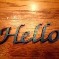 handmade home decor Hello sign wood letters wall hangings