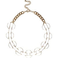 River Island Womens Cream chunky enamel chain necklace