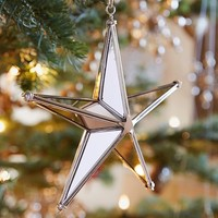 Faceted Mirror Star Ornament