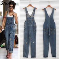 Womens Jumpsuit Denim Overalls