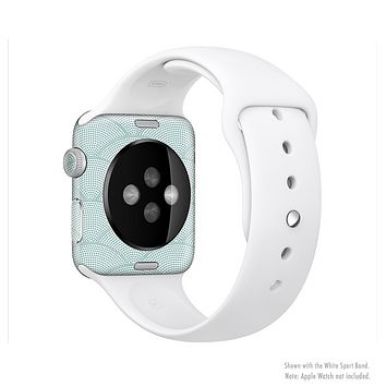 The Teal Circle Polka Pattern Full-Body Skin Set for the Apple Watch