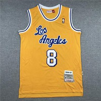 Kobe Bryant Los Angeles Lakers Mitchell & Ness 1996-97 Hardwood Classics Gold Jersey - Best Deal Online