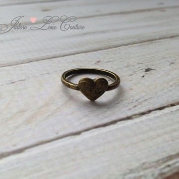 JadoreLexieCouture, Vintage, Heart, Simple and Lovely Ring, Women's Jewelry, Trendy Jewelry, Love Ring