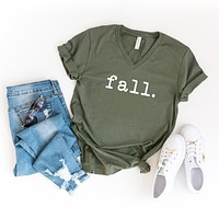 Fall | V-Neck Graphic Tee