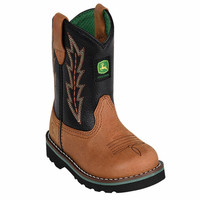 John Deere Infant/Toddler Johnny Popper Black Tan Boots