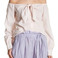 Free People | Hello There Beautiful Off-the-Shoulder Shirt | Nordstrom Rack