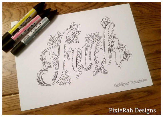 PRE-SALE Sweary Colouring Book From PixieRahDesigns On Etsy