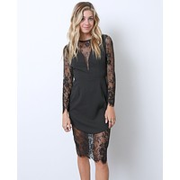 My Dream Lace Dress - Black