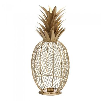 Golden Pineapple Candle Holder