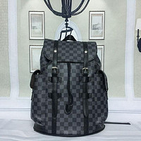 Louis Vuitton Women Fashion Leather Backpack Daypack Rucksack Bookbag