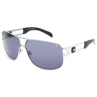 Adidas Conductor Hi Sunglasses Silver Shiny One Size For Men 22404514001