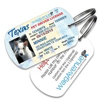 Texas Driver's License Pet Tag
