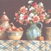 Flowers & Collectibles I 6 x 7.5 lithograph