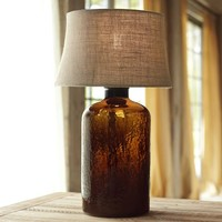 Clift Glass Table Lamp Base - Espresso