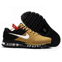 Nike Air Max Trending Women Men Casual Sport Shock Absorption Shoes Sneakers Gold I