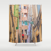 Shower Curtain - Venice Street - Venice Shower Curtain - Venice Italy - Italy Shower Curtain - Photo Shower Curtain - Pastel - Gifts for Her