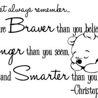 "Winnie The Pooh Christopher Robin-Home Decor-Wall Decal-Wall Art-25"" inches-Inspirational Quotes-Famous:Amazon:Home Improvement"