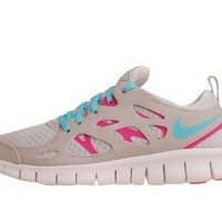 Nike Free Run 2.0 Big Kids GS Running Platinum Pink Flash (GS) (5)