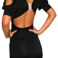 Benefit (Black)-Great Glam is the web's top online shop for trendy clubbin styles, fashionable party dress and bar wear, super hot clubbing clothing, stylish going out shirt, partying clothes, super cute and sexy club fashions, halter and tube tops, belly