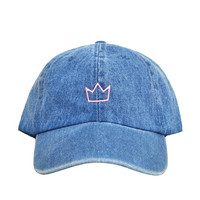 Denim Crown Hat