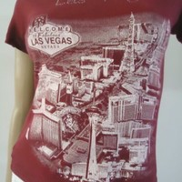 Welcome to Fabulous Las Vegas Graphic T Shirt Maroon Color Youth Girls Shirt